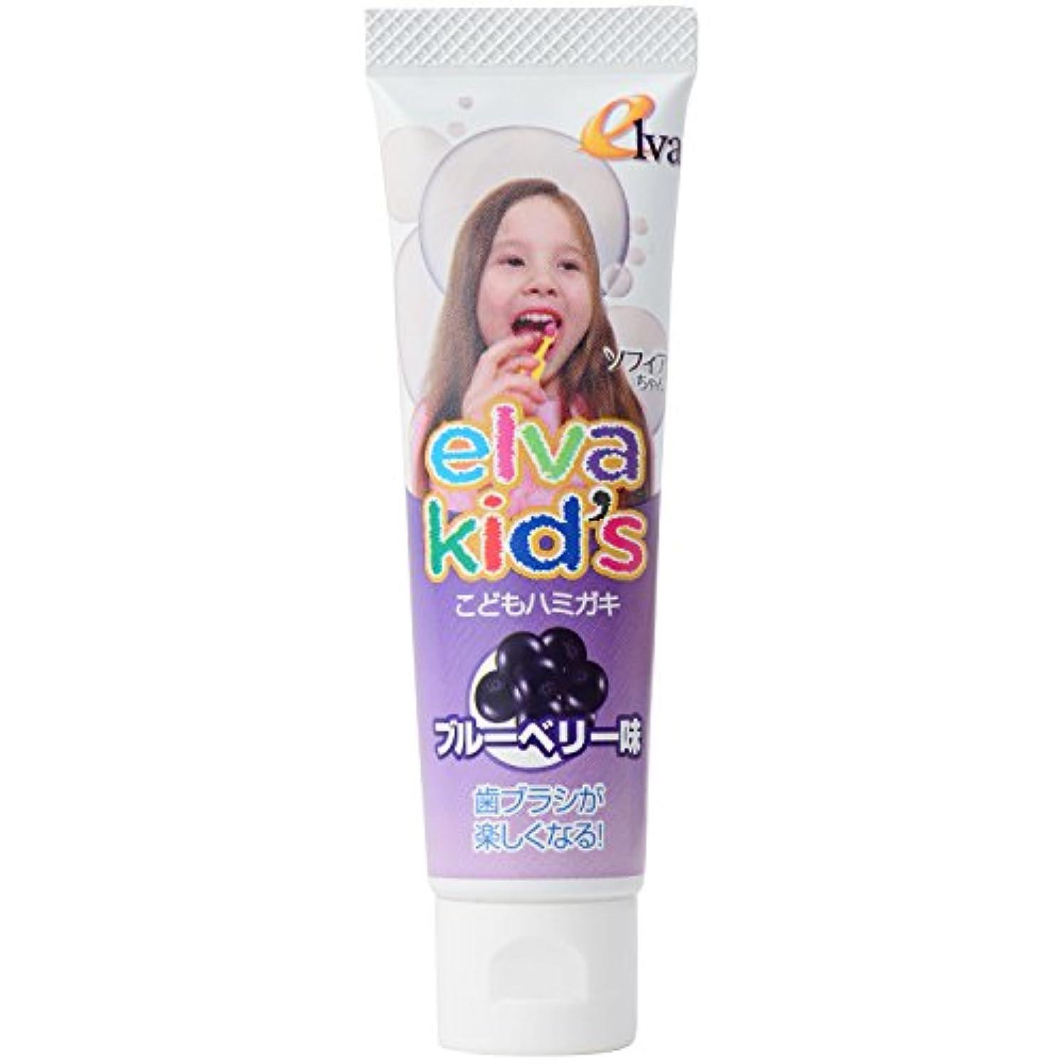 計画的両方リハーサルエルバキッズ お母さんも安心のこだわりの歯磨き粉 フッ素なし ブルーベリー味 2個セット