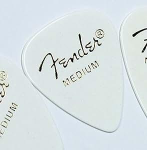 Fender ピック×10枚 ティアドロップ MEDIUM-WHT