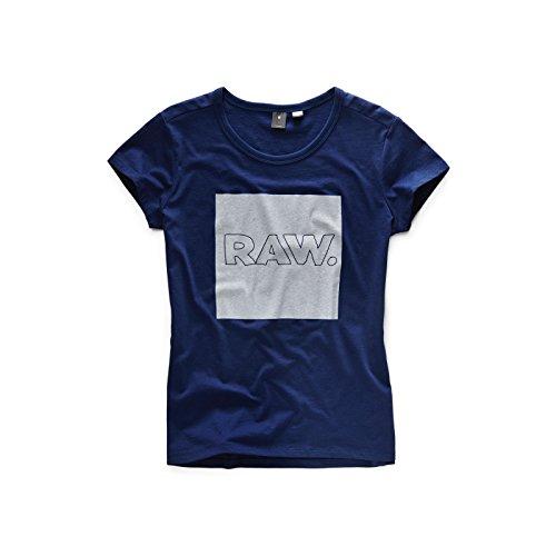 G-Star RAW(ジースターロゥ) BLYZIA ラウンドネック 半袖 ストレート tシャツ レディス