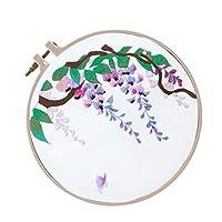 D DOLITY 蘇州刺繍 キット 初心者 花柄 刺繍 スターター DIYクラフト 全6種 - E00029