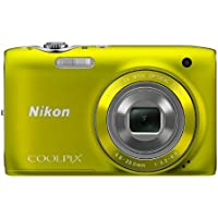 Nikon COOLPIX S3100 14 MP Digital Camera with 5x NIKKOR Wide-Angle Optical Zoom Lens and 2.7-Inch LCD (Yellow) [並行輸入品]
