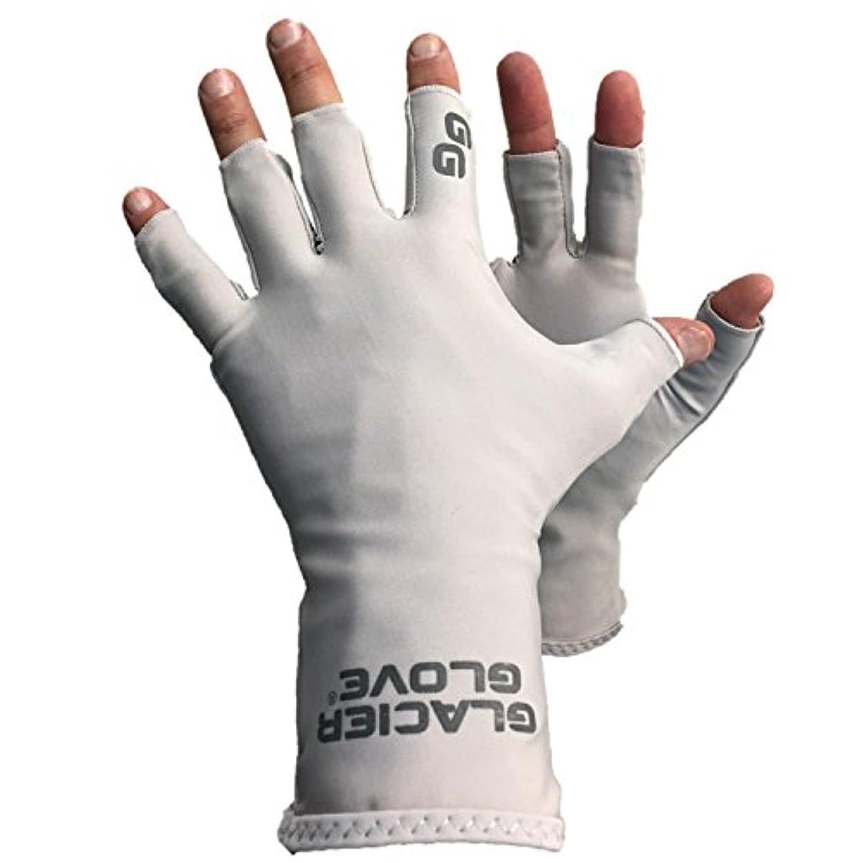フリル直面する保証氷河グローブAbacoベイ指なしSun手袋、X - Small /スモール、ライトグレー