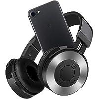 ヘッドホン、ステレオ折りたたみヘッドセットマイク付き携帯電話TV PCラップトップ付き低音低音ヘッドホン (Color : Black gray)