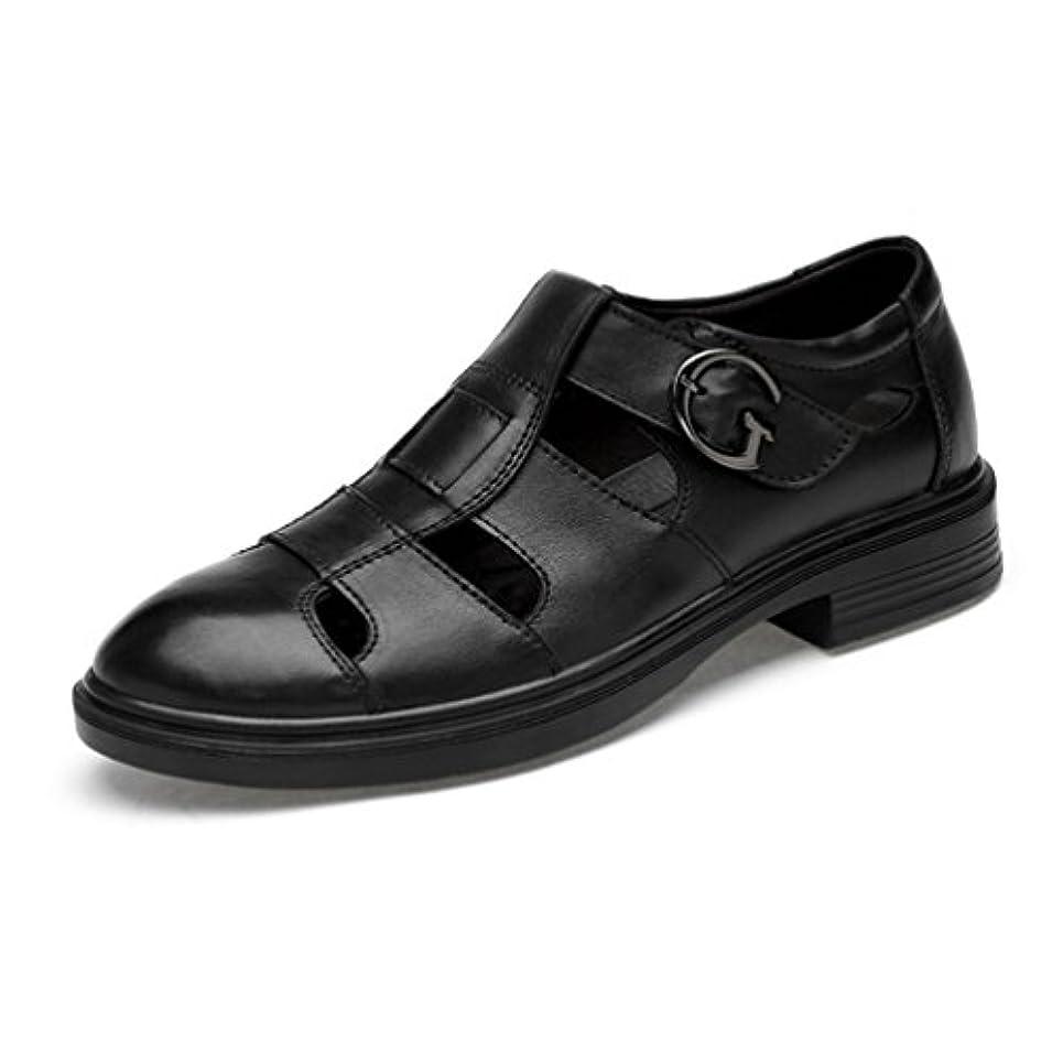 概要交流するマインドメンズ ビジネスサンダル 革靴 オシャレ 夏 ブラック コンフォートサンダル オフィス 通勤 カジュアル 滑り止め 軽量 フォーマル スポーツサンダル かかと アウトドア 通学 お兄 かっこいい 22.5-29.0cm