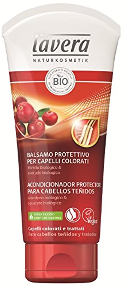 手染めのためのLavera保護コンディショナー - クランベリーバイオロジカル&バイオアボカド - ビーガン - 100%天然化粧品証明書 - ヘアケア - 4コンテナ200 ml