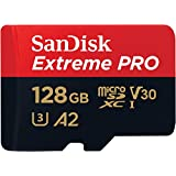 SanDisk Extreme Pro A2 128GB microSDXC UHS-1 U3 V30 (Up to 170MB/s Read) Memory Card with Adapter SDSQXCY