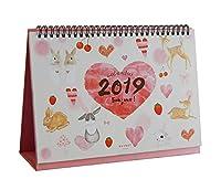 ホーム/オフィスデスク/卓上カレンダー2018年8月〜2019年12月-H
