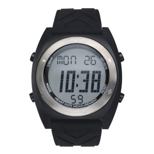 Solus Unisex Digital Watch with LCD Dial Digital Display and Black Silicone Strap SL-310-005