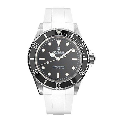 [ラバービー] RubberB ラバーベルト ROLEX サブマリーナ(Ref:14060)専用ラバーベルト(尾錠付き)(ホワイト)※時計は付属しません(Watch is not included) [並行輸入品]