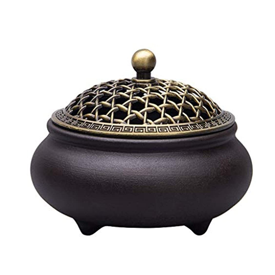 ぎこちない粘り強いつば芳香器?アロマバーナー セラミック香炉3本足アロマテラピー炉ホームインテリア装飾品 アロマバーナー芳香器 (Color : A)