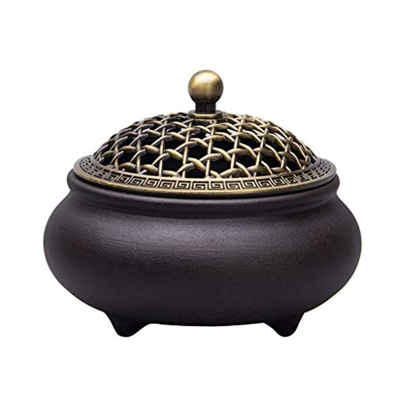 起きて非常に取り扱い芳香器?アロマバーナー セラミック香炉3本足アロマテラピー炉ホームインテリア装飾品 アロマバーナー芳香器 (Color : A)