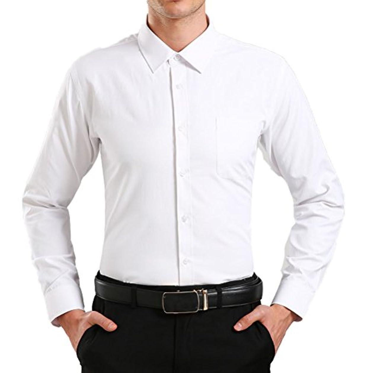 慈悲深いヤギモディッシュLinyuan ファッション Men's Long Sleeve シャツ Shirts Button Down Slim Fit Casual Formal Solid Colors A026