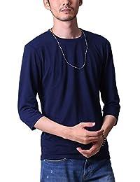 FTELA(フテラ) メンズ シャツ カットソー Tシャツ ロンTクルーネック 丸首 Vネック 長袖 7分袖 半袖 無地 シンプル スリム