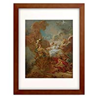 ジャン・オノレ・フラゴナール Jean Honore Fragonard 「Venus intervenes in the battle between Mars and Minerva」 額装アート作品