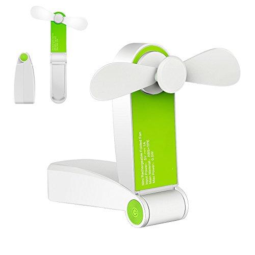 BestFire 携帯扇風機 USB充電式扇風機 ミニ扇風機 USBファン 卓上扇風機 低騒音 手持ち卓上置き両用 プレゼント (グリーン)