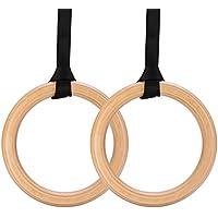 Yimidear 体操 吊り輪パーチ木製 運動道具 器械 トレーニング オリンピック体操リング ベルト 筋力強化 最大負荷200kg ストレス解消 体を鍛える