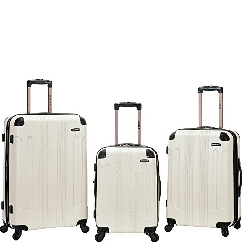 ロックランド バッグ スーツケース London 3-Piece Hardside Spinner Luggage White [並行輸入品]