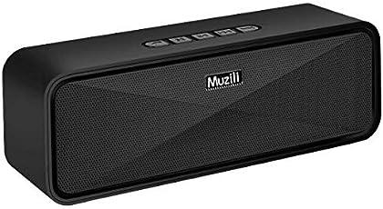 Bluetooth スピーカー Muzili ブルートゥース スピーカー speaker 重低音 高音質 臨場感満点 耐久性 ハンズフリー通話 コスパ最高(ブラック)