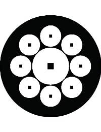 家紋シール 長谷部銭紋 布タイプ 直径40mm 6枚セット NS4-2370