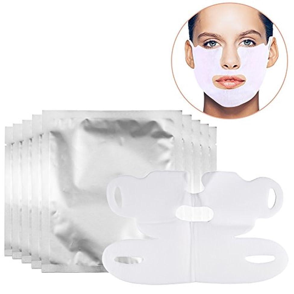 お手入れ変形する粘土ダブルチンリデューサー、リフティングフェイシャルマスクVシェイプフェイススリムチンチェックネックリフトファーミングホワイトニングプルマスク