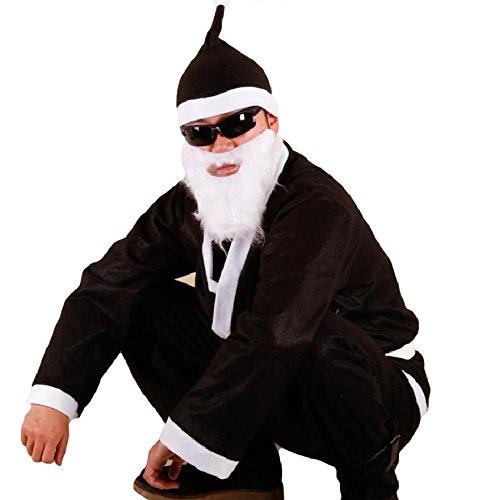 (SCGEHA) ブラック サンタ サンタクロース 衣装 コスプレ メンズ ...
