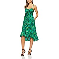 French Connection Women's Leaf Print Bustier Dress, Multi