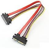 PC用 7+15 SATA オス To オス プラグ ハード ドライブ 電源ケーブル コンバーター SATA 電源とデータ延長ケーブル