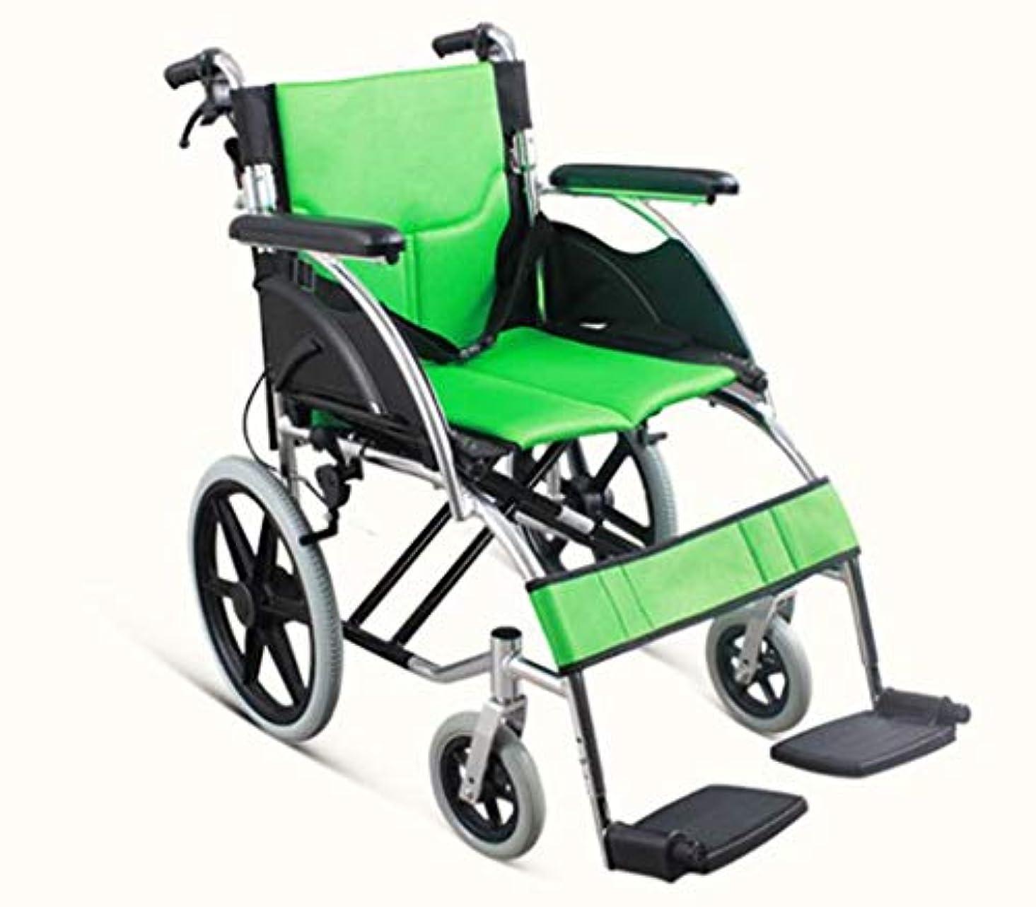 許容できるチャンバー苦情文句手動車椅子折りたたみ式、ポータブル車椅子高強度アルミニウム合金ブラケット、屋外旅行高齢者車椅子に適しています