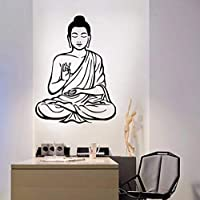 Wxmca ウォールステッカー家の装飾リビングルーム装飾ビニール壁用仏教デカール壁の上44×59センチ