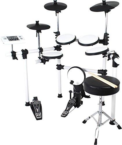 MEDELI  電子ドラム シンバルチョーク/リムショット対応モデル ホワイト DD-504J DIY KIT/WH (ドラムスティック/ドラムイス付き) B010V9SHUY 1枚目