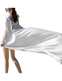 Liebeye ショール 女性 スタイリッシュ ラージ ビーチ サンスクリーン スカーフ ファッショナブル 旅 ティペットフェスティバル ギフト 140*190