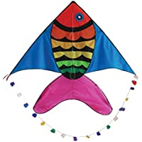 In the Breeze Rainbow Fish Kite 60-Inch [並行輸入品]