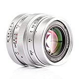 Zhongyi Mitakon Speedmaster 25mm f/0.95 マイクロフォーサーズカメラ OMD GH4 EM1 - シルバーカラー