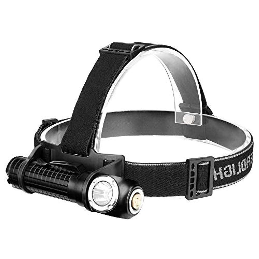 非常に怒っています証明書平行CHENNAO ヘッドライト、防水LEDヘッドライトUSB充電式懐中電灯ダブルヘッドライトIPX5防水、5モード動作ブライトヘッドトーチキャンプ、サイクリング、屋外の安全性