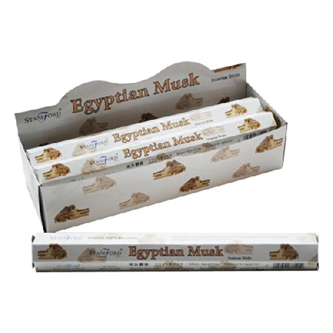 骨の折れる窒息させるねじれ6 Packs Of Elements Egyptian Musk Incense Sticks