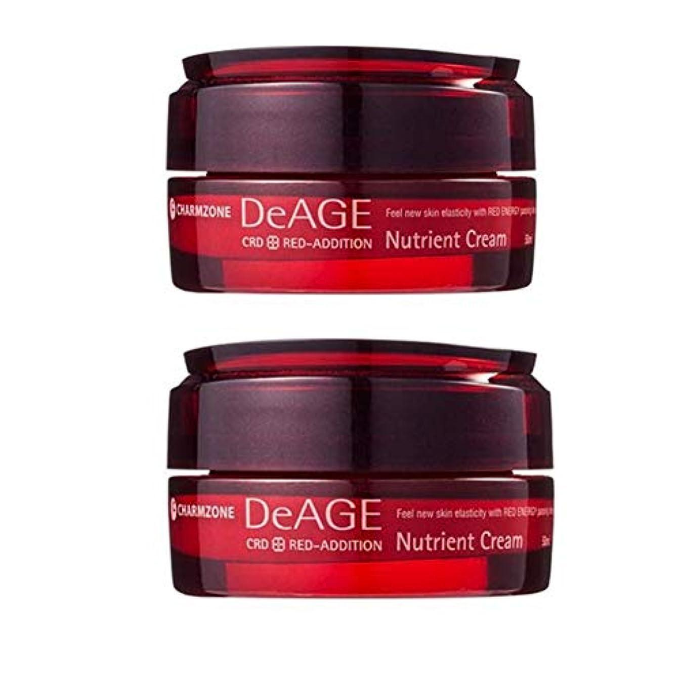 付添人深遠バケットチャムジョンディエイジレッドエディションニュトゥリオントゥクリーム50ml x 2本セット 栄養クリーム, Charmzone DeAGE Red-Addition Nutrient Cream 50ml x 2ea Set [並行輸入品]