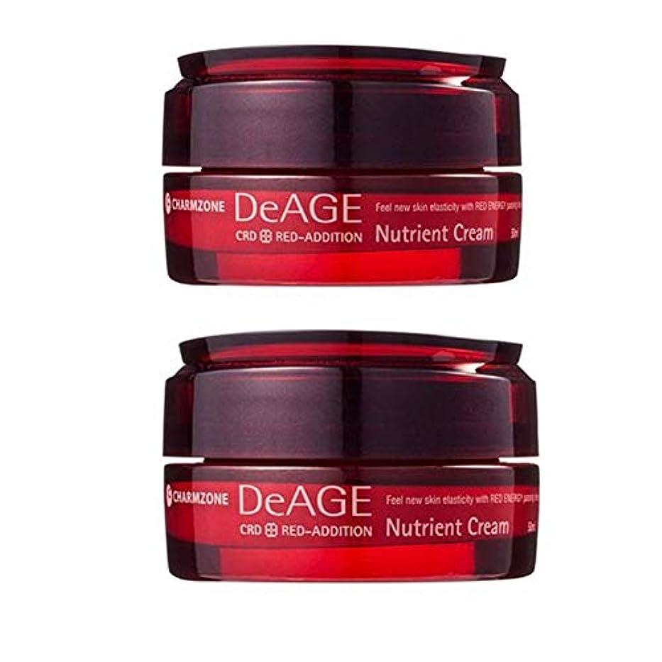 軍隊特権的開発チャムジョンディエイジレッドエディションニュトゥリオントゥクリーム50ml x 2本セット 栄養クリーム, Charmzone DeAGE Red-Addition Nutrient Cream 50ml x 2ea Set...