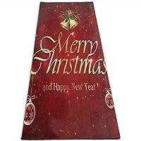ヨガマット赤い星空のメリークリスマススポーツ、トレーニング、ピラティスコースヨガマット 10mm 多機能高級スポーツ用ヨガマット