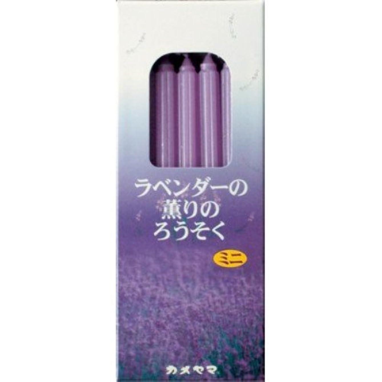 ガラス継続中まどろみのあるラベンターの薫りのろうそく ミニ (20本)