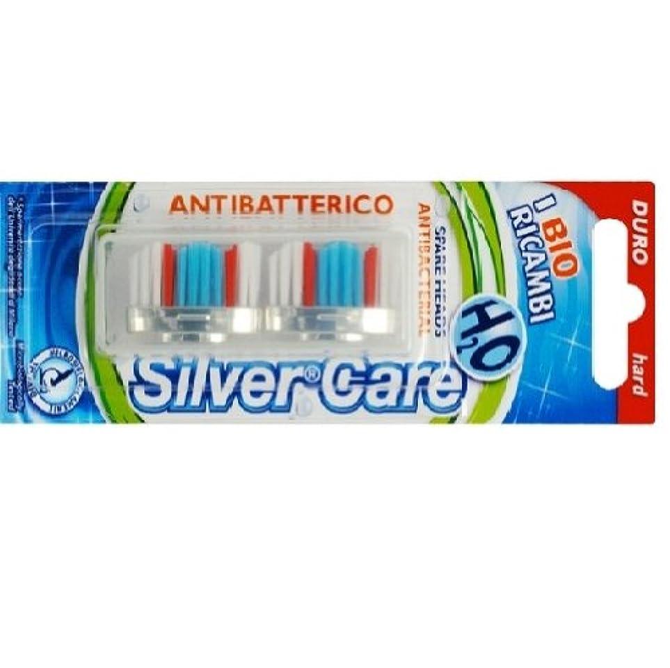 シンプルさスチール自体シルバー抗菌歯ブラシ スペア ハード