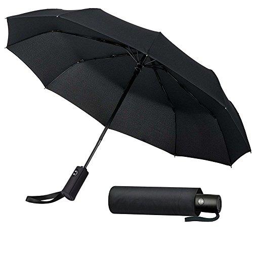 QueenDer 折りたたみ傘 ワンタッチ自動開閉 UVカット日傘 遮熱 遮光 10本骨 116cmコンパクト耐強風撥水傘 軽量 頑丈 梅雨対策 晴雨兼用 収納ポーチ付 メンズ レディース