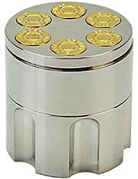 小さな金属弾丸形状26歯ハーブスパイスクラッシャー葉巻たばこグラインダー喫煙グラインダーアクセサリーハンドクリスマスギフト