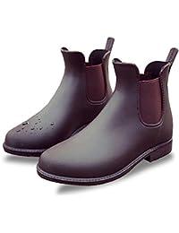 [chorbmark] レディース サイドゴア レインブーツ 防水 普段履き 6サイズ 2色展開(ブラック、ブラウン)