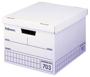 フェローズ バンカーズボックス 703ボックス A4ファイル用 青 3枚パック 対荷重30kg