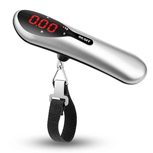 Hohoto吊りはかり デジタル計量器 荷物スケール 携帯式 旅行はかり 小型 軽量デジタル荷物はかり 風袋引き機能 LEDディスプレイ 最大50KGまで量れる (50g-50kg)