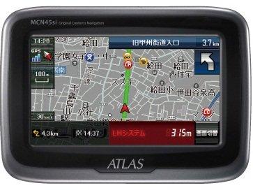 ユピテル(YUPITERU) MCN45si ATLAS バイク用ナビゲーション 防水・防塵 Bluetooth ナビ MCN45si