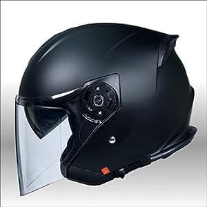 【クレスト】ワンタッチインナーバイザー付きジェットヘルメット HAYABUSA 隼 XL(61~62cm),イタリアンレッド