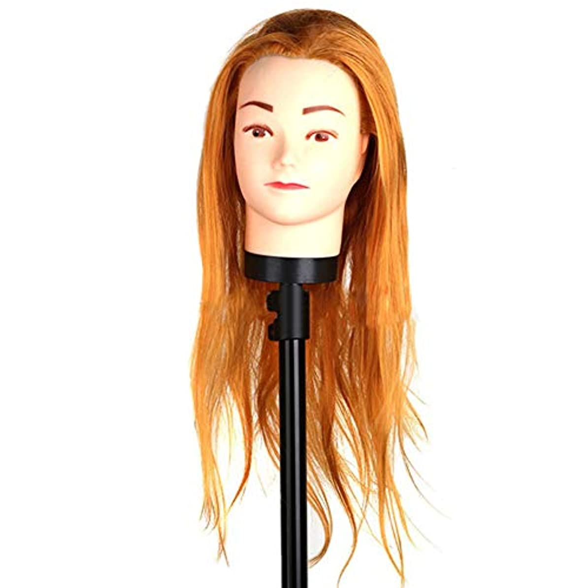 限界ギャングスター安定高温繊維かつらヘッドモールドメイクヘアスタイリングヘッドヘアーサロントレーニング学習ヘアカットデュアルユースダミー人間の頭
