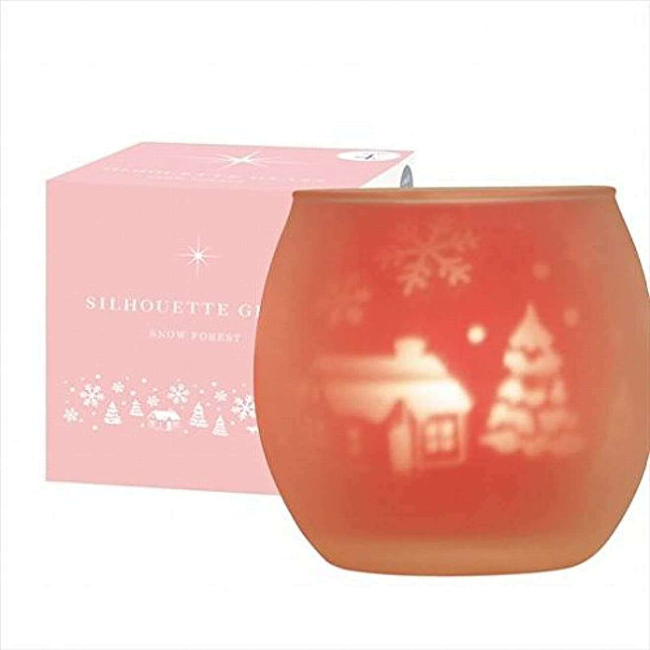 数字達成可能アンテナカメヤマキャンドル(kameyama candle) スノーフォレストシルエットグラス【キャンドル4個付き】
