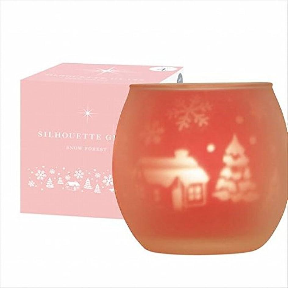 受動的有益世辞カメヤマキャンドル(kameyama candle) スノーフォレストシルエットグラス【キャンドル4個付き】
